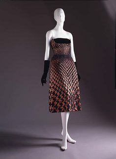 Houndstooth Dinner Dress by Christian Dior, 1951