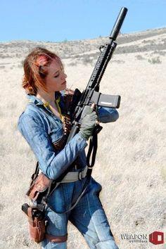 Girls who aren't afraid of guns!