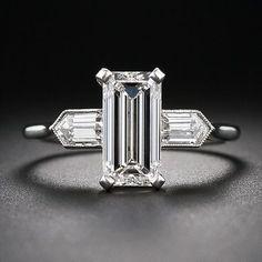 Emerald-Cut Diamond Art Deco Engagement Ring