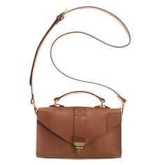 madewell petite briefcase bag in english saddle