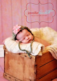 Newborn  Baby Bonnet Your Choice Of Pink Or Blue by amydscrochet, $15.00