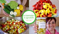 pickles and sour Sweet And Sour Vegetables, Colorful Vegetables, Mixed Vegetables, Veggies, Stuffing Recipes, Vegetable Salad, Italian Dishes, Stuffed Hot Peppers, Antipasto
