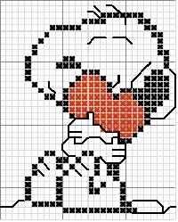 Snoopy with Heart, small size Cross Stitch Baby, Cross Stitch Charts, Cross Stitch Patterns, Cross Stitching, Cross Stitch Embroidery, Stitch Character, Pixel Crochet, Stitch Cartoon, Tapestry Crochet