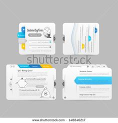 Business Website template infographic design menu navigation elements with icons set - stock vector