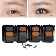 1PCS High Quality 3 Colors+ Brush Professional Nude eyeshadow palette makeup matte Eye Shadow palette Make Up Glitter eyeshadow