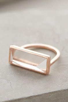 Quartz Rectangle Ring - anthropologie.com