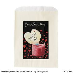 Browse Zazzle for a variety of wedding favor bags. Start shopping our great selection & find a design for your favor bags today! Romantic Wedding Favours, Wedding Favor Bags, Flame Picture, Red Candles, Heart Patterns, Anniversary Parties, Heart Shapes, Party Themes, Sweet