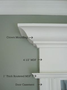 Window Trim Detail- do this around my office window