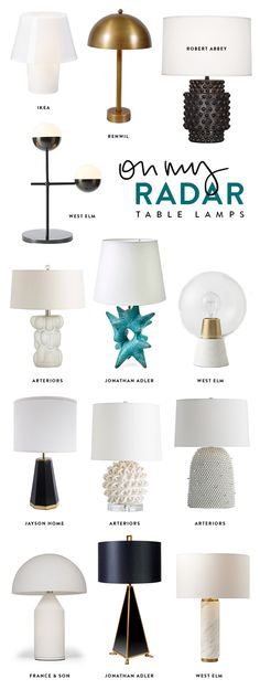 13 TABLE LAMPS