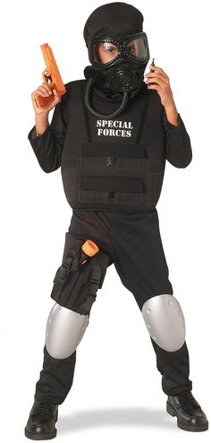 Dress up your kid as the officer who is ready to serve in this special forces…