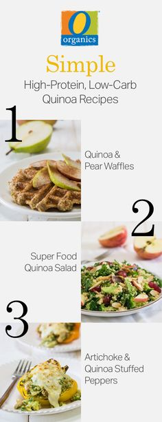 Meal prep your O Organics® quinoa so you can make these three tasty recipes!