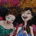 Boobs and Booze - oil painting by Charleston artist Jennifer Koach www.jenniferkoachart.com