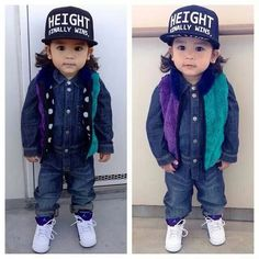 Cool hip hop attire for toddlers.