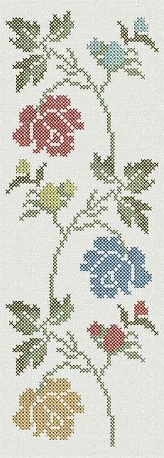 programe de broderie, motive f Cross Stitch Bookmarks, Cross Stitch Heart, Cross Stitch Borders, Cross Stitch Flowers, Cross Stitch Designs, Cross Stitching, Cross Stitch Embroidery, Embroidery Patterns, Hand Embroidery