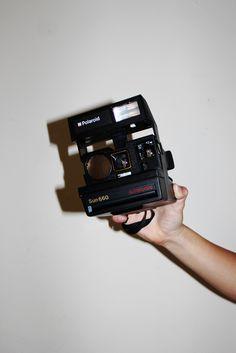 Vintage Polaroid camera.