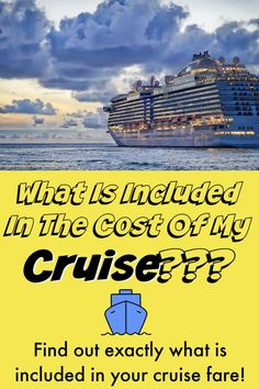 """Wondering what is included in the cost of your cruise? This article explains everything you can expect to enjoy """"free"""" onboard your cruise ship! Packing List For Cruise, Cruise Tips, Cruise Vacation, Vacation Trips, Vacations, Cruise Destinations, Amazing Destinations, Travel Hacks, Travel Ideas"""