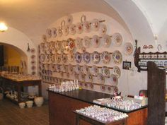 Modra pottery, Slovakia--a really near, old fashioned pottery shop. Now their folksy style is often imitated by larger manufacturers. Everything here is still done by hand.fun to visit and watch! Pottery Shop, Bratislava, Larger, Watch, Places, Fun, Beautiful, Style, Souvenir