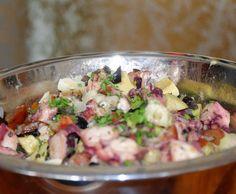 Rezept Pulpo (Oktopus) Salat von UdoSchroeder - Rezept der Kategorie Hauptgerichte mit Fisch & Meeresfrüchten