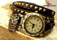 Armbanduhren - KÖNIGIN DER NACHT Echtleder Uhr Wickeluhr Armband - ein Designerstück von Schloss-Klunkerstein bei DaWanda