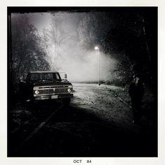 Josh Dallas-@joshdallas: A 'Frozen' night in Storybrooke with @Jared_Gilmore and David's Truck. #OnceUponATime