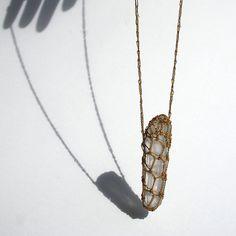 Crochet Crystal Necklace