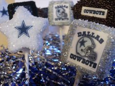 DALLAS COWBOYS Cake Pops - 12 cake pops, 1 dozen cake pops - can do ANY sports team - 48 flavors to choose from. $25.00, via Etsy.