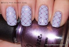 Lavender Quilted Pattern Nails