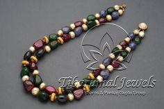 Tiraa by Tibarumal Jewels Emerald Jewelry, Pearl Jewelry, Antique Jewelry, Gold Jewelry, Jewelery, Pearl Beads, India Jewelry, Bead Jewellery, Beaded Jewelry