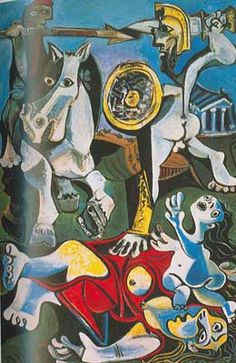 Pablo Picasso, The Abduction of the Sabine Women Fine Art Reproduction Oil Painting Modern Art, Abstract Artists, Cubist, Museum Of Fine Arts, Painting, Henri Matisse, Pablo Picasso Art, Art, Art History