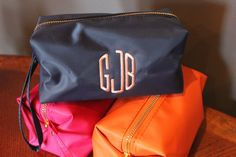 Monogrammed Makeup Bag by SocialManor on Etsy