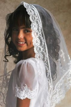 Communion Mantilla with Cross Veil