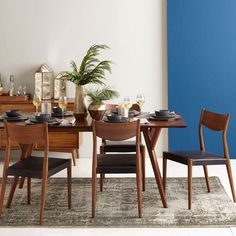Mid-Century Expandable Dining Table - Walnut West Elm UK