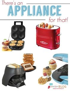 Quirky and out of the ordinary appliances! Great gift ideas! Fun kitchen appliances for anything and everything!