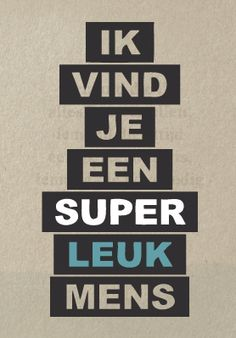 Super leuk mens
