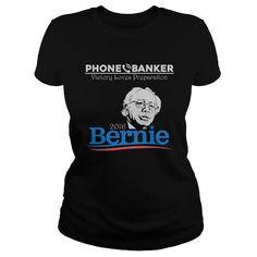 Bernie Sanders Phone Banker T Shirts, Hoodies, Sweatshirts. CHECK PRICE ==► https://www.sunfrog.com/Political/Bernie-Sanders-Phone-Banker-Shirt-Black-Ladies.html?41382