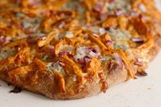 buffalo chicken pizza, by the way the cookie crumbles ///  There you go. I'm not a big fan of Buffalo wings, but I've got to try this pizza...