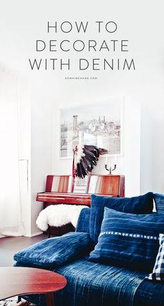 Stylish ways to decorate with denim