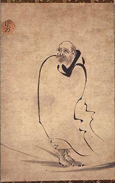 Zen Paintings: Standing Darum by Fugal