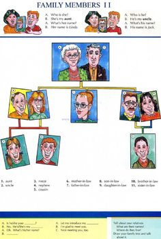 3 - FAMILY MEMBERS 2 - Pictures dictionary - English Study