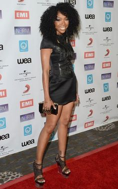 Our cover girl Brandy arrived at the NARM Music Biz Awards dinner party in Century City