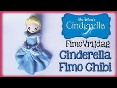Disney cinderella chibi polymer clay prinsess tutorial