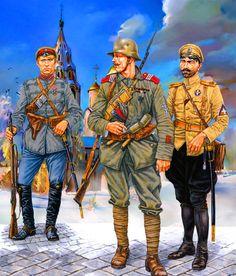 Latvian 1st Kurzem Division with Bermont-Avalov's Detachment and 1st Pskov Infantry Regiment, Russian Civil War