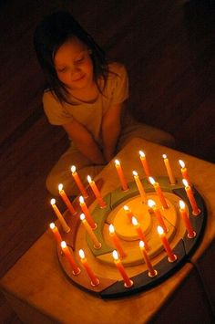 maya and our advent spiral by waldorf mama, via Flickr