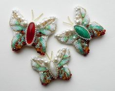 Beautiful embroidered jewelry by Alena Cilenticyriver(II) | Beads Magic