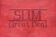 Slim by mejiamva on @creativemarket