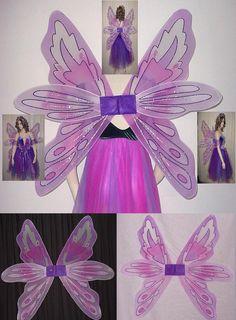 Christmas #Angel Fairy Butterfly Wings White// Black// Pink// Green Fancy Dress