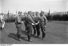 SA awarding of promotions, Tempelhofer Field, Berlin 1933.