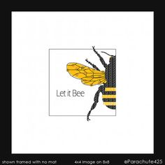 A little tongue-in-cheek honey bee humor in this simple square art print that will accent any home or office decor. Crisp golden-yellow and black on bright white matte cover. Please allow for color variations due to different computer monitor settings. Watermarks will not be on purchased copies. YOU WILL RECEIVE: unmatted / unframed prints  SIZES AVAILABLE: You must choose a size in the drop down SIZE Box at checkout. 4x4 or 6x6 image on 8 x 8 (20.3 cm) print 9x9 image on 12 x 12 (30.5 cm)…