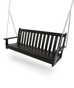 Look at this Black Vineyard Swing on #zulily today!
