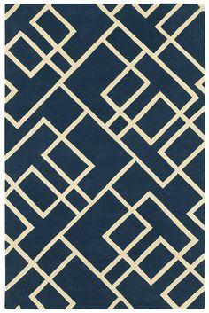 "Area Rug in style ""Harlow"" color Navy - by Shaw Floors...Like this idea for if we redo our bedroom"